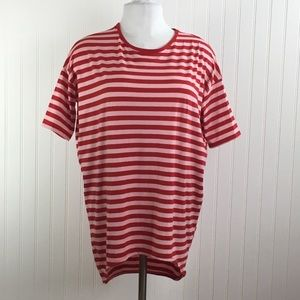 LuLaRoe Irma Hi Lo Tunic Tee XXS Striped Top S/S